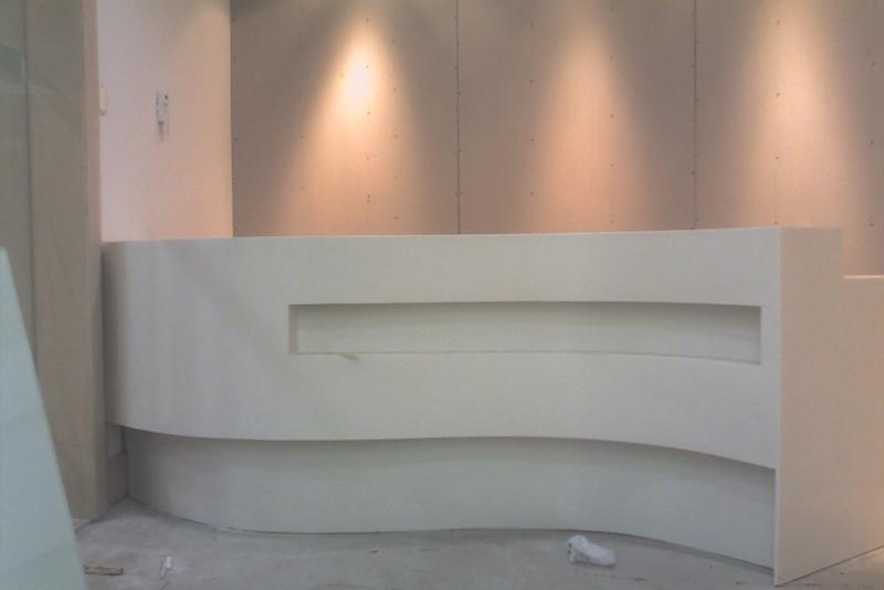 美容院人造石异形吧台
